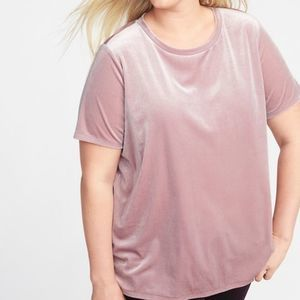 OLD NAVY | NWT Mauve Crushed Velvet Boyfriend Tee